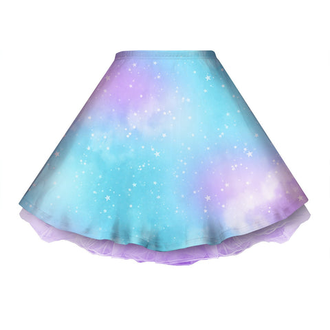 Dreamy Space Blue and Purple Skirt