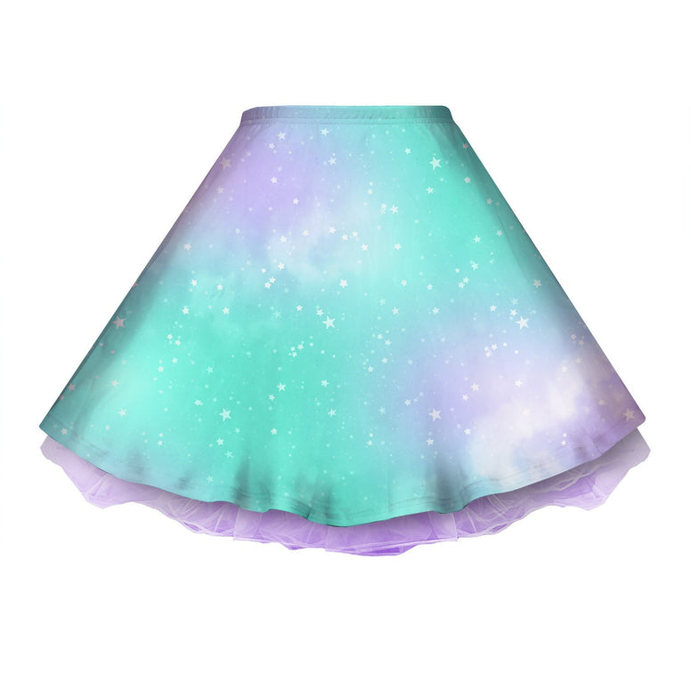 Dreamy Space Mint and Purple Skirt