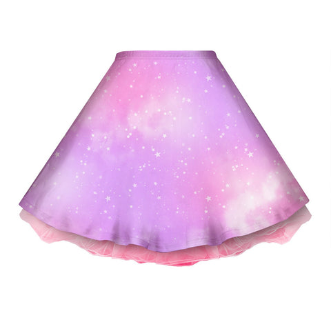 Dreamy Space Pink and Purple Skirt