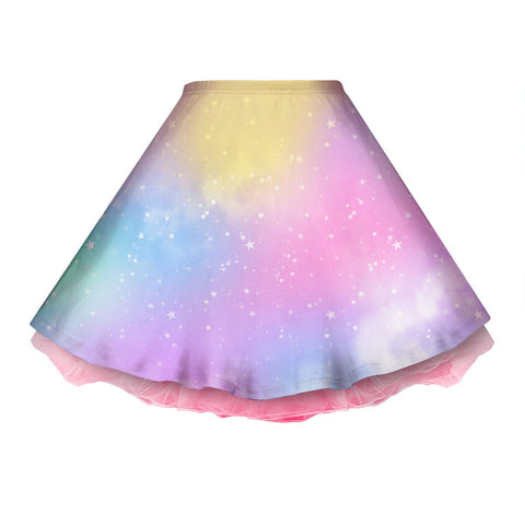Dreamy Rainbow Space Skirt