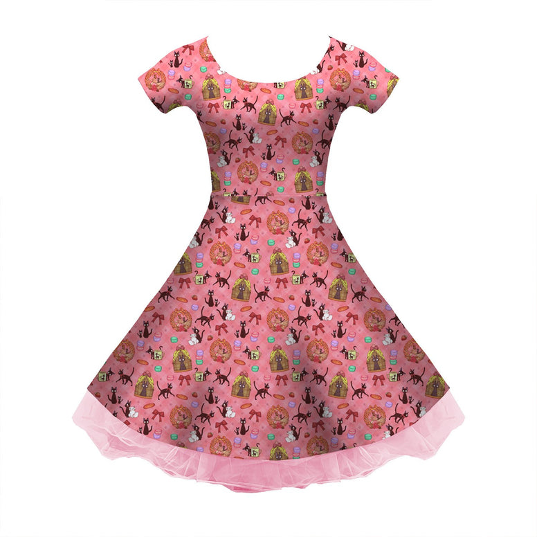 Ghibli Kiki Sleeved Skater Dress
