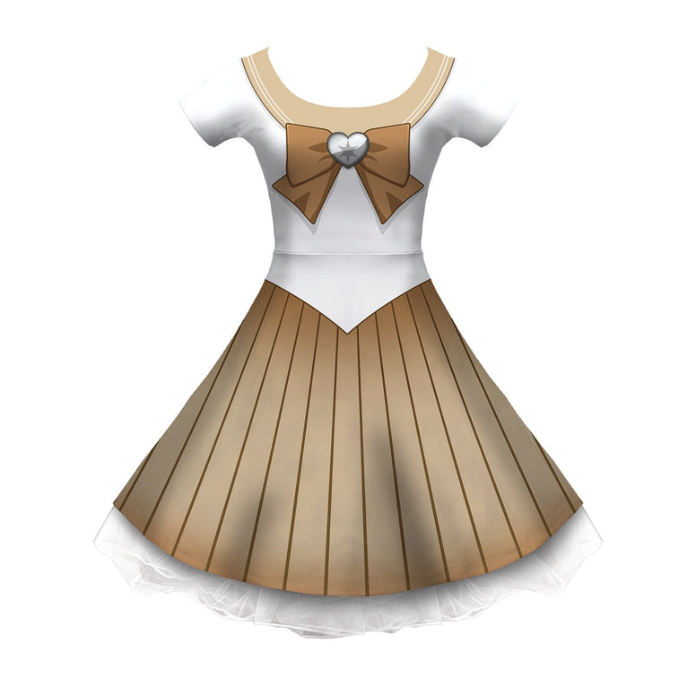 PKMN Senshi Normal Cosplay Sleeved Skater Dress