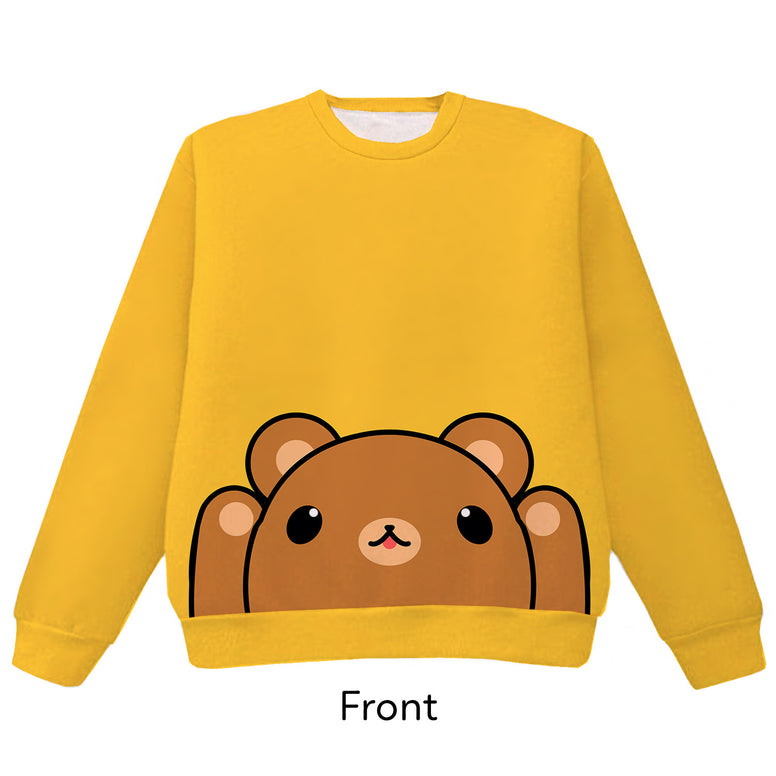 Brown Bear Pounce Pullover Sweater