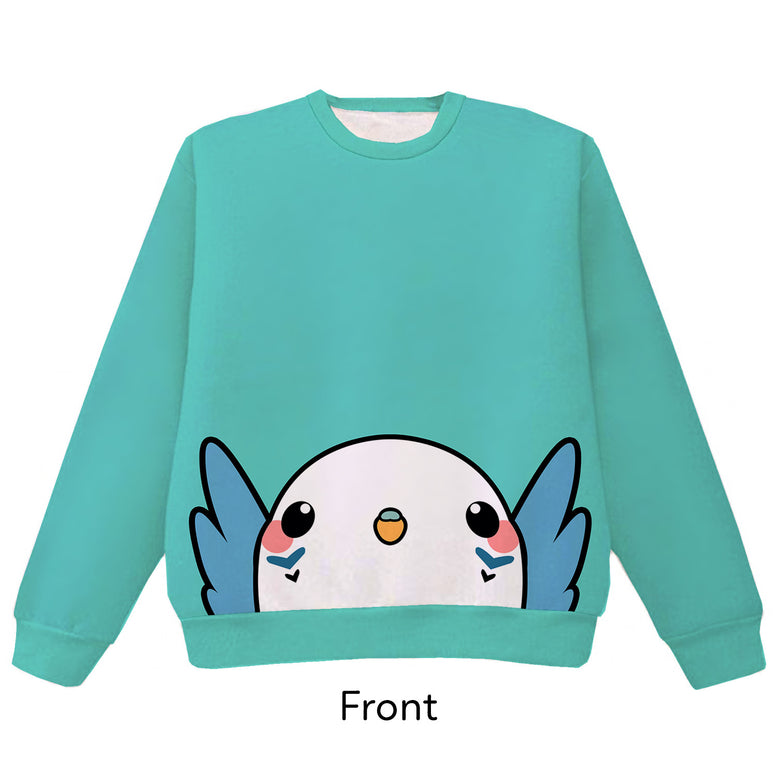 Budgie Pounce Pullover Sweater