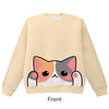 Calico Cat Pounce Pullover Sweater