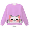 Grey Point Cat Pounce Pullover Sweater