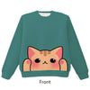 Orange Tabby Cat Pounce Pullover Sweater