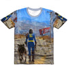 Lone Wanderer and Her Dog Unisex Tee
