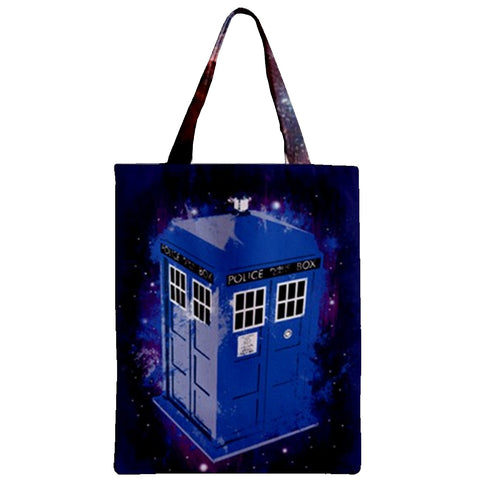 Travelling blue box Zipper Tote