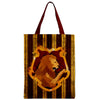 House Red And Gold Zipper Tote