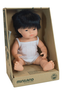 Miniland Doll Asian Boy, 38cm