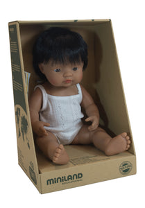Miniland Doll Hispanic Boy, 38cm