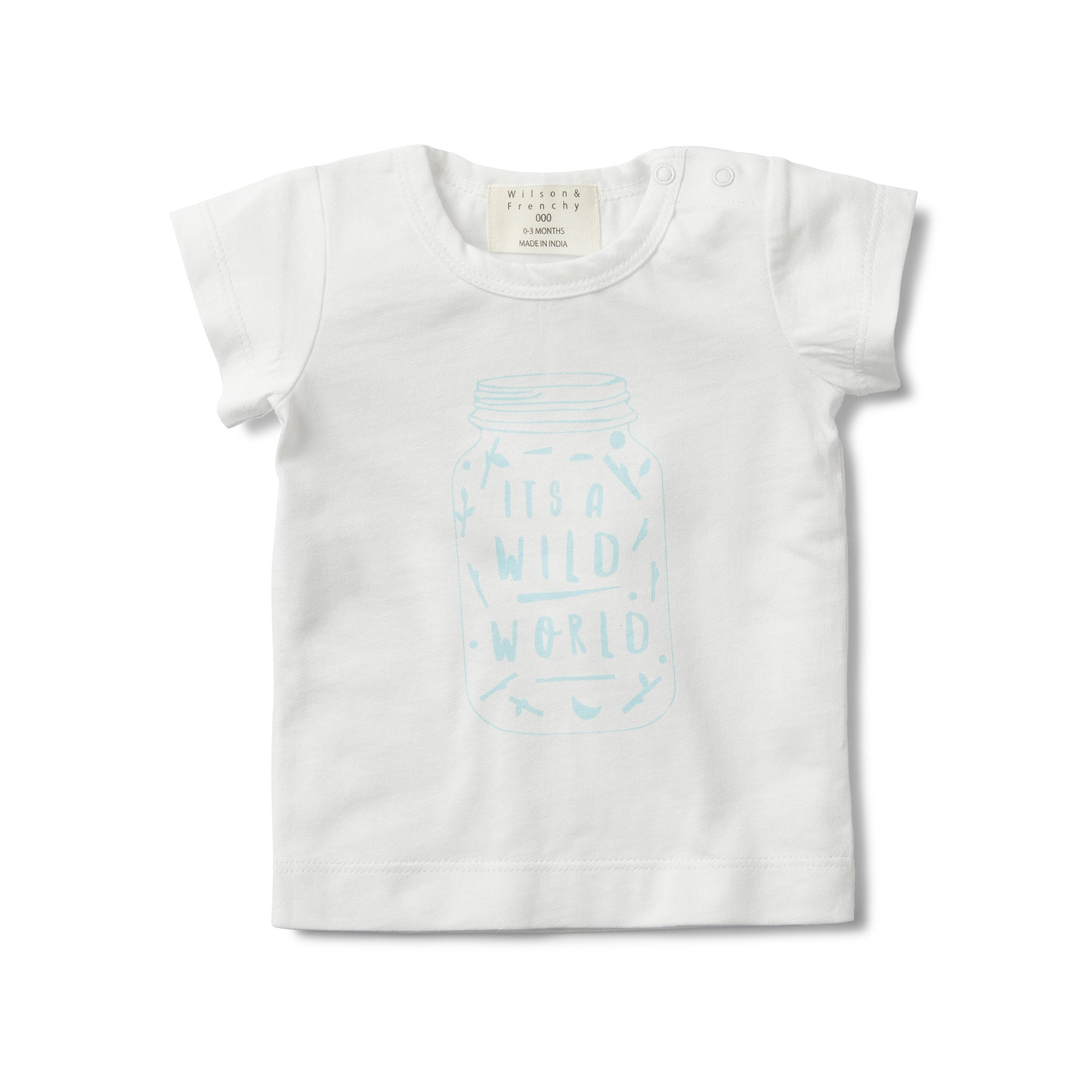 Short Sleeve T-shirt - It's A Wild World Blue