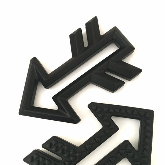 Silicone Arrow Teethers - Black