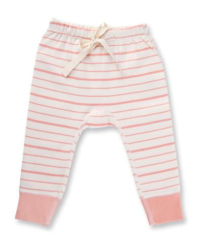 Peach French Striped Pants
