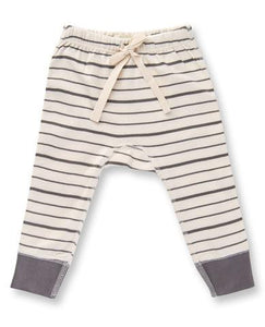 Charcoal French Striped Pants