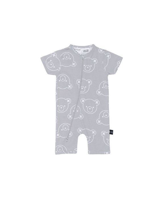 Hux Bear Short Zip Romper