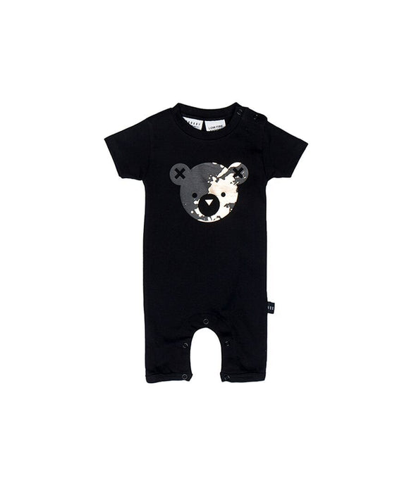 Splash Bear Short Zip Romper