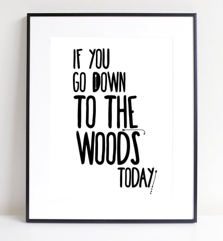 Print - INTO THE WOODS