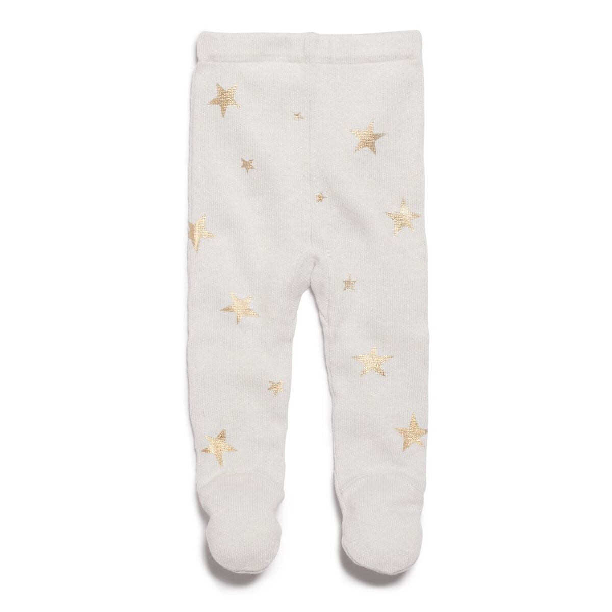 Knitted Leggings with Feet - Glacier Star Bright
