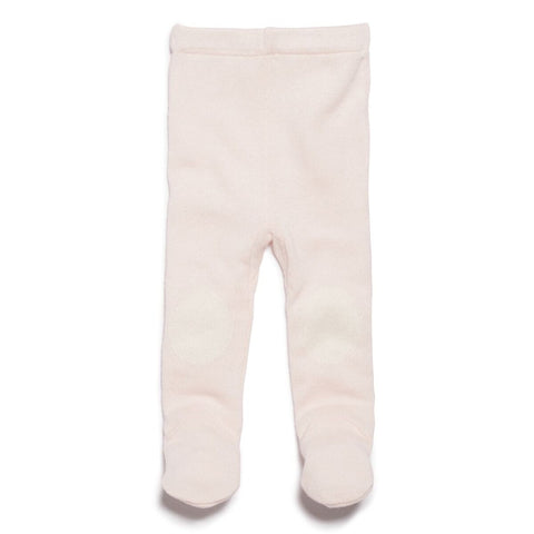 Knitted Leggings with Feet - Marshmallow