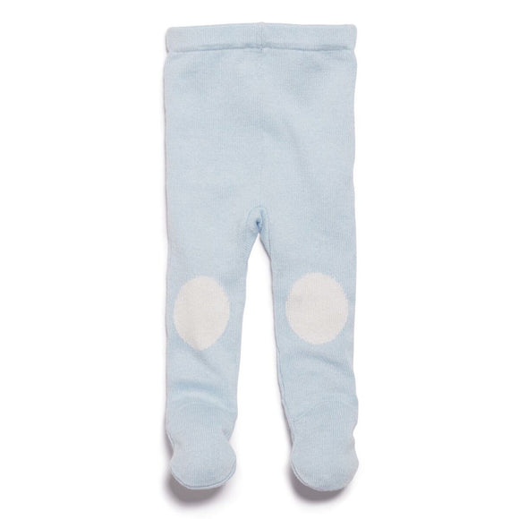 Knitted Leggings with Feet - Cashmere Blue