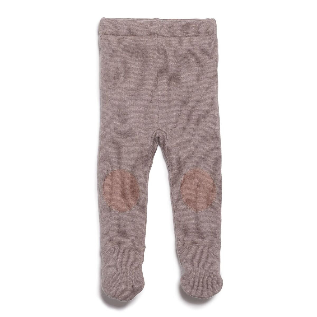 Knitted Leggings with Feet - Smoke Grey