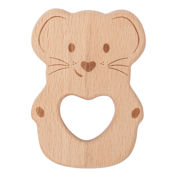 Kippins Natural Beech Wood Teething Toy - Luna Kippins