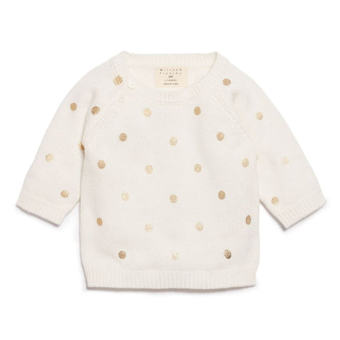 Knitted Jumper - Little Polkadot