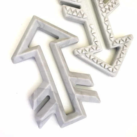 Silicone Arrow Teethers - Marble