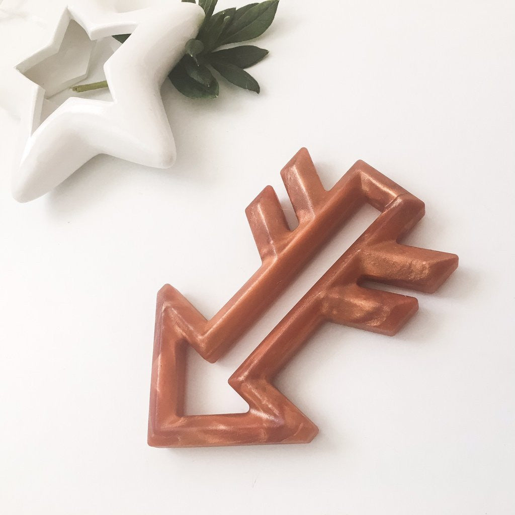 Limited Edition Silicone Arrow Teethers - Metallic Copper