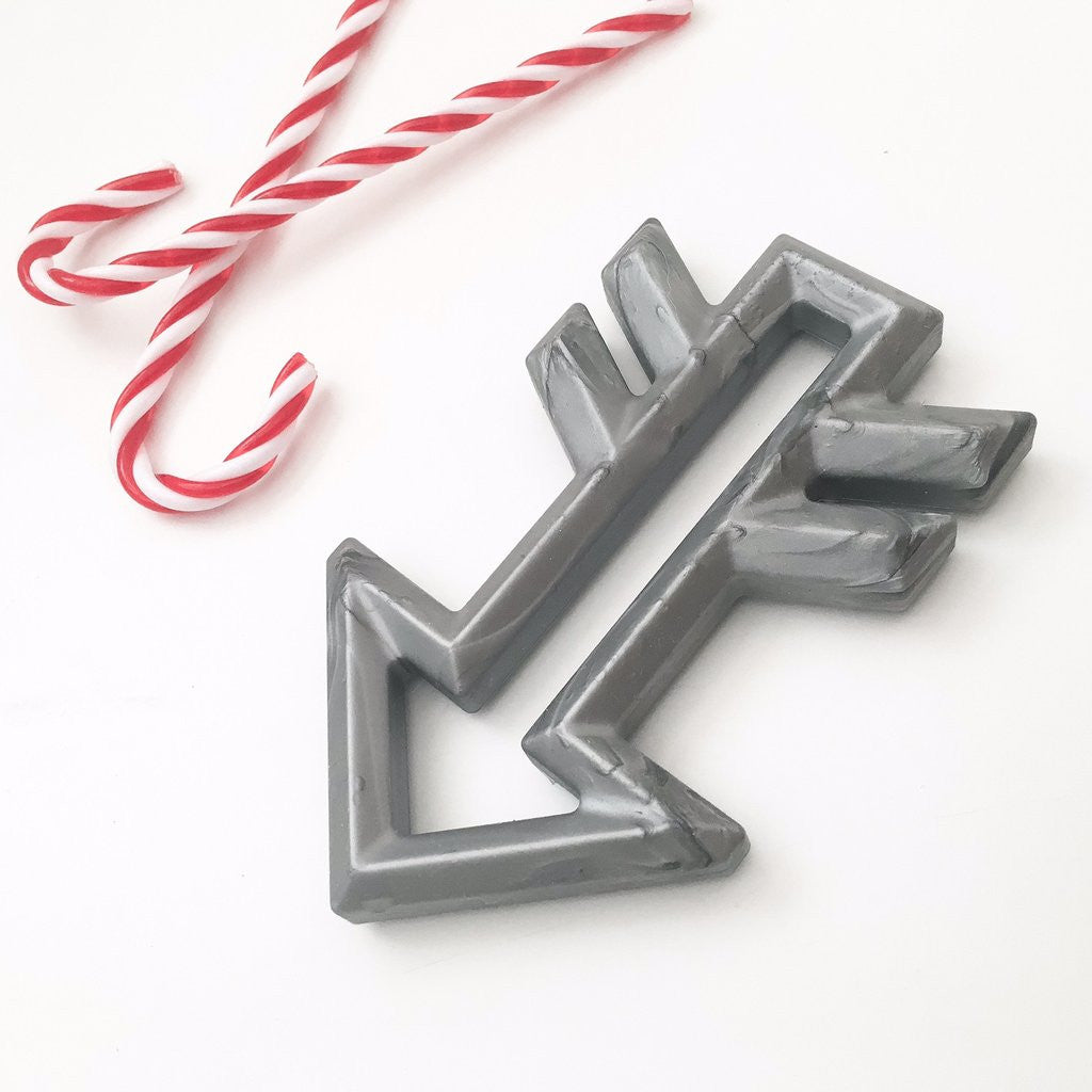 Limited Edition Silicone Arrow Teethers - Metallic Silver