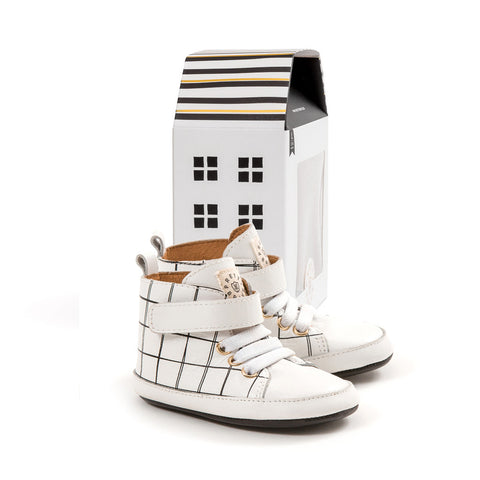 HI-TOP - White Grid