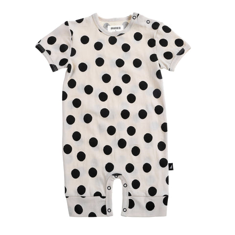 Black Spot Short Sleeve Romper