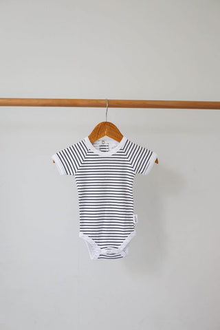 Stripe Short Sleeve Onesie