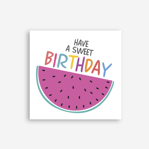 Greeting Card - Sweet Birthday