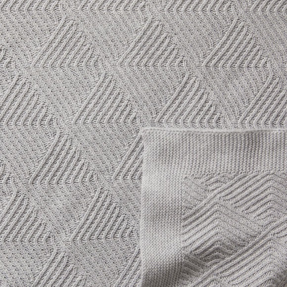Knitted Blanket - Grey Melange