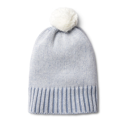 Knitted Hat - Dusty Blue