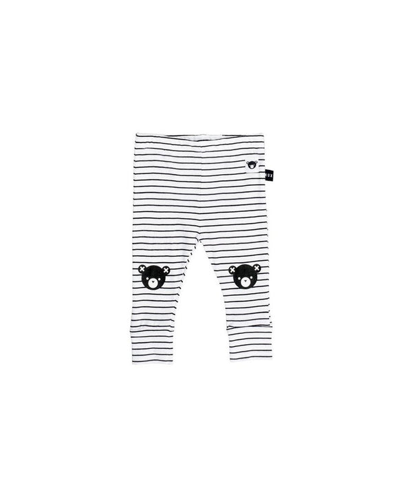 Stripe Legging with Bear