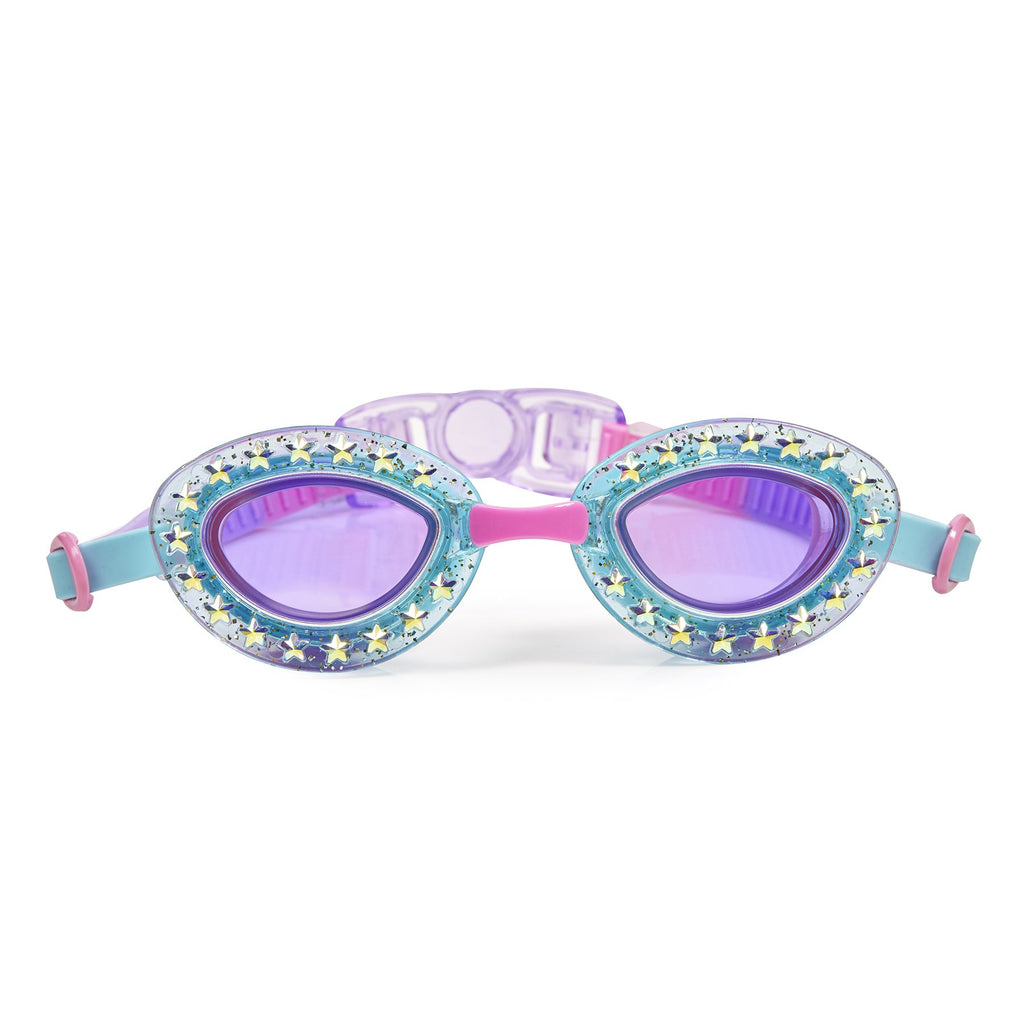 Girls blue swimming goggles