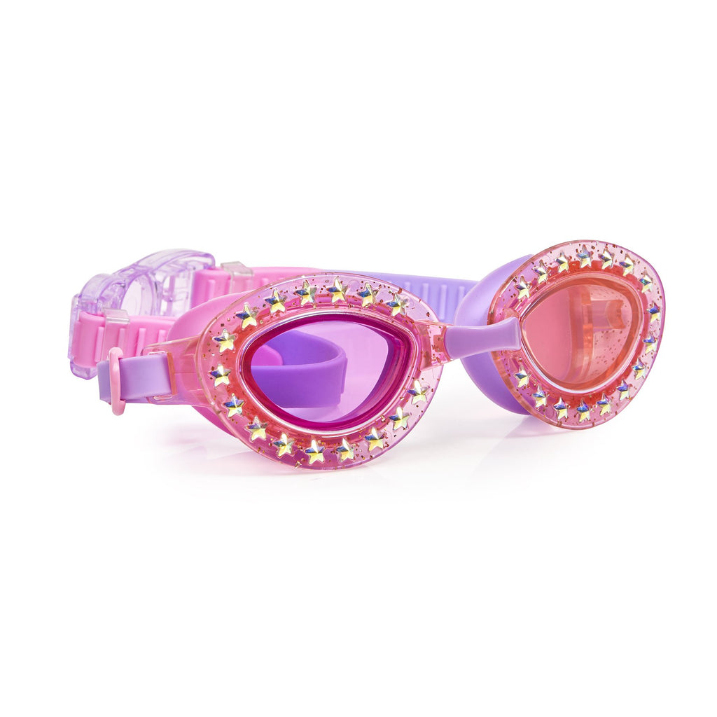 Girls pink swimming goggles