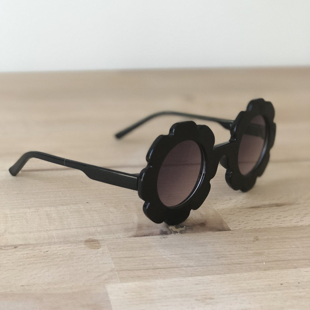 Black flower sunglasses, toddler sunglasses at Sadie Baby