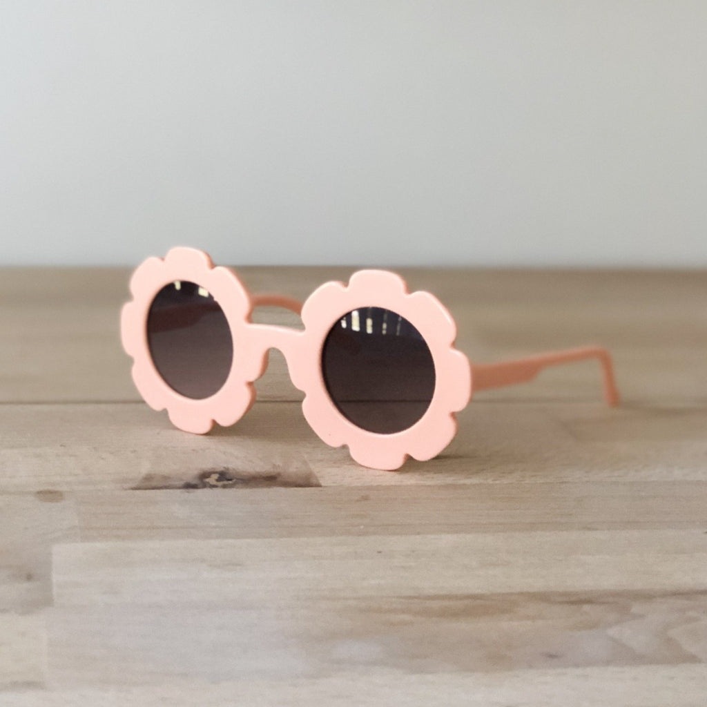 Coral flower sunglasses, toddler sunglasses at Sadie Baby