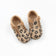 KIDS LEATHER T-BAR LEOPARD