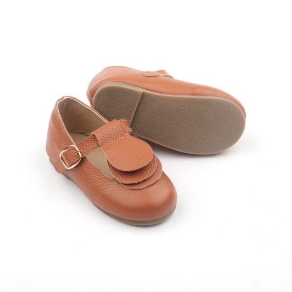 LONDON Kids Mary Jane Dark Tan