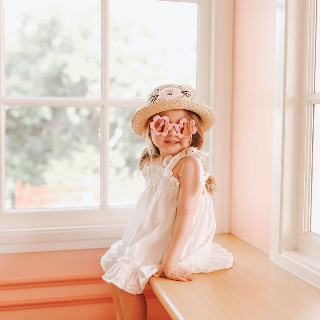 BABY PINK FLOWER SUNGLASSES