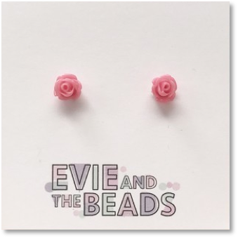 Mini Rose Stud Earrings