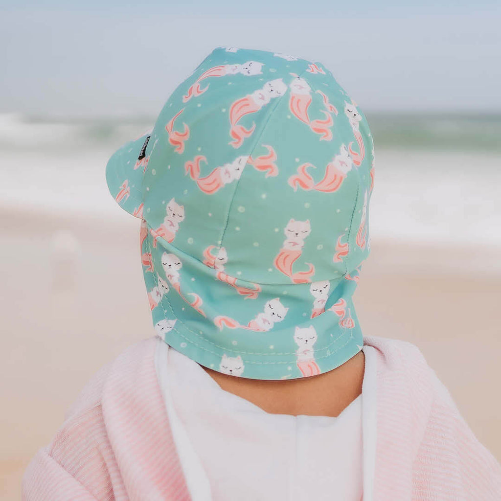 Girls Beach Legionnaire Hat UPF50+ 'Merkitty' Print