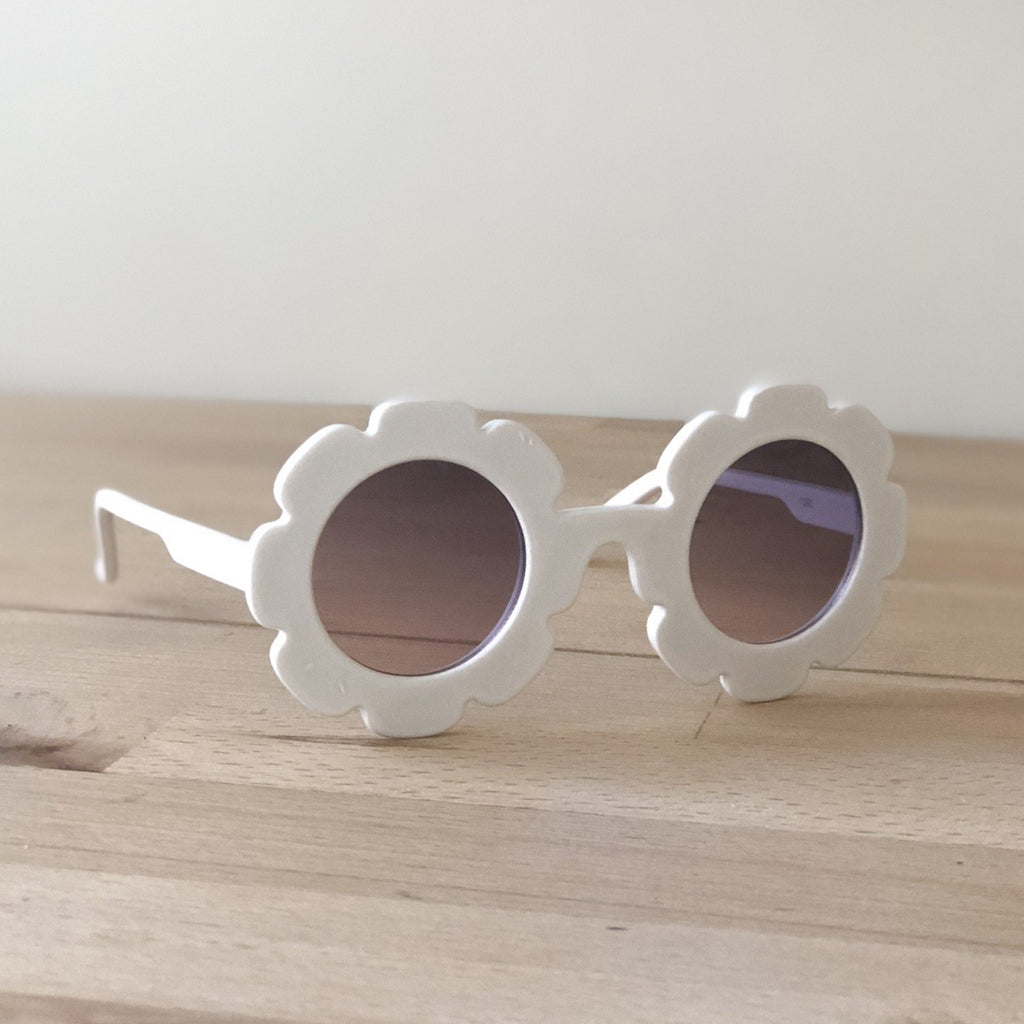 White flower toddler sunglasses at Sadie Baby