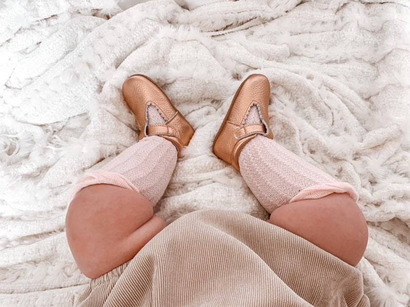ROSE GOLD SOFT SOLE T-BAR